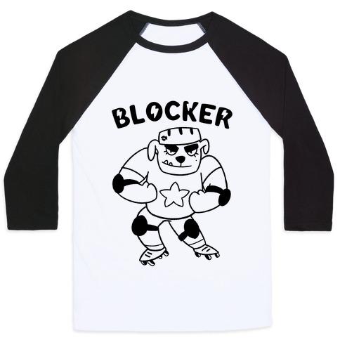 472501339e4 Blocker (Roller Derby) Baseball Tee