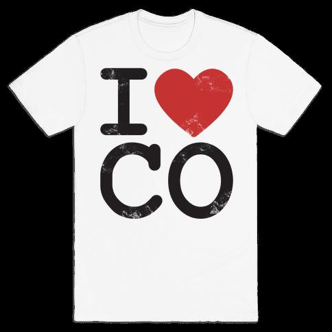 I Love Colorodo Mens T-Shirt