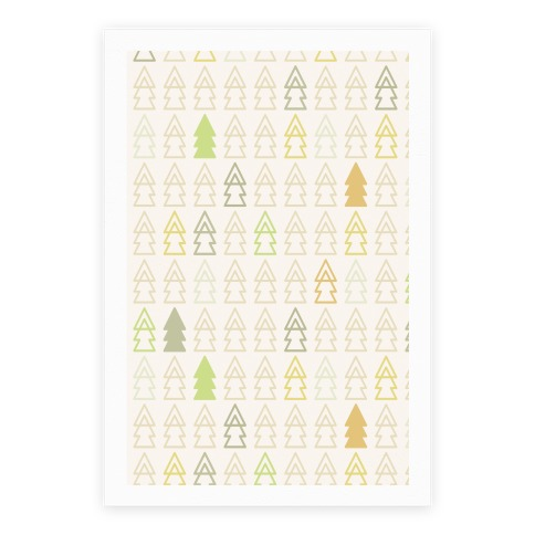 Autumn Evergreen Trees Poster