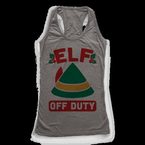 Elf Off Duty Racerback Tank Top