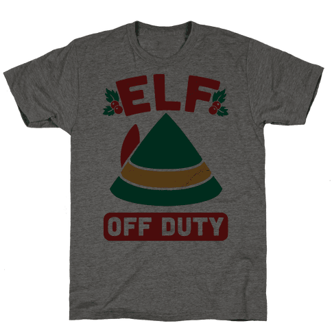 Elf Off Duty Mens T-Shirt