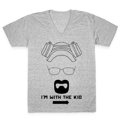 I'm With The Kid. (Walt and Jesse Couples Shirts) V-Neck Tee Shirt