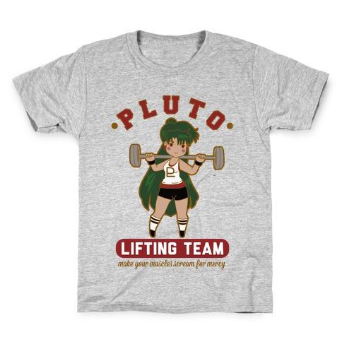 Pluto Lifting Team Parody Kids T-Shirt