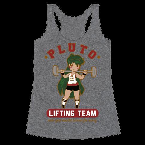 Pluto Lifting Team Parody Racerback Tank Top