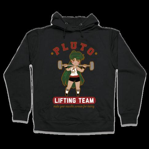 Pluto Lifting Team Parody Hooded Sweatshirt