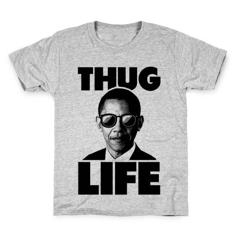Obama Thug Life Kids T-Shirt