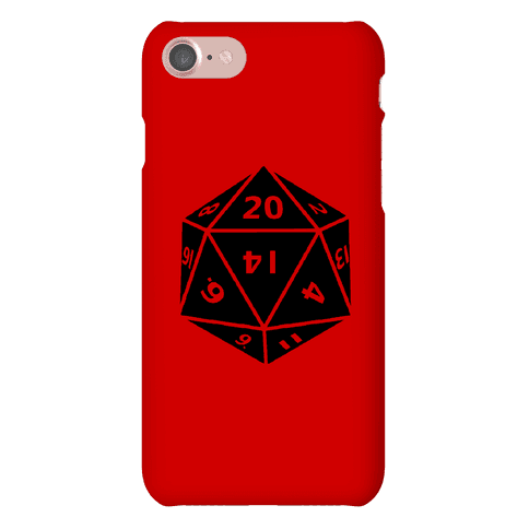 D20 Die Phone Case