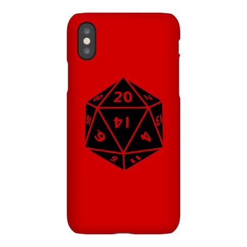 D20 Die Phone Case
