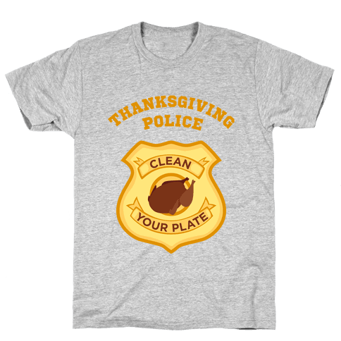Thanksgiving Police Mens T-Shirt