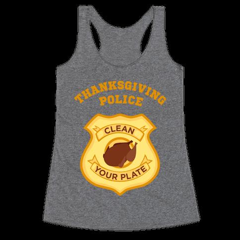 Thanksgiving Police Racerback Tank Top