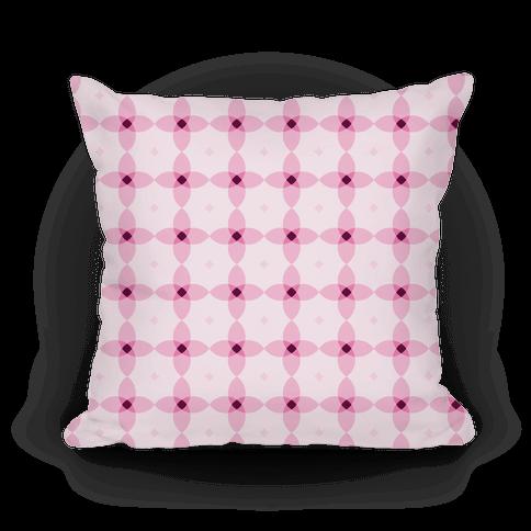 Pink Geometric Flower Pattern Pillow