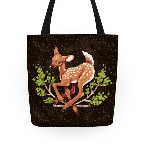 Forest Peaceful Fawn Tote