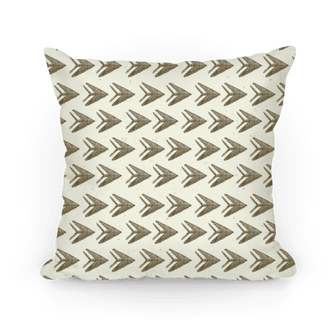 Brown Watercolor Arrow Pattern Pillow
