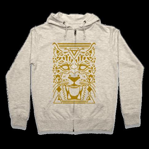Egyptian Leopard Zip Hoodie