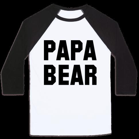 Papa Bear Baseball Tee
