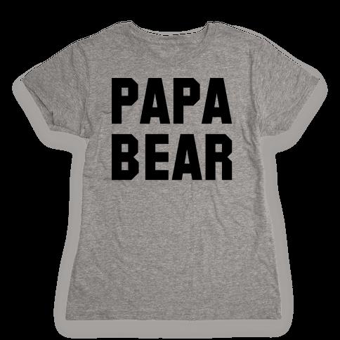 Papa Bear Womens T-Shirt