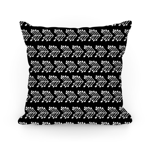 Black Cute Chevron Pattern Pillow