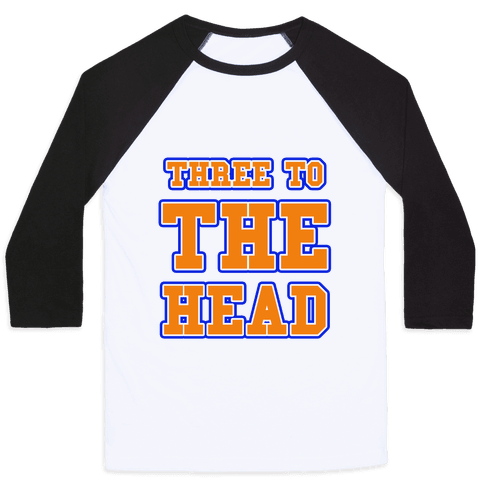 Three to the Head Baseball Tee