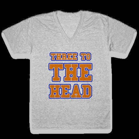 Three to the Head V-Neck Tee Shirt