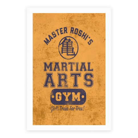 Master Roshi's Martial Arts Gym Poster
