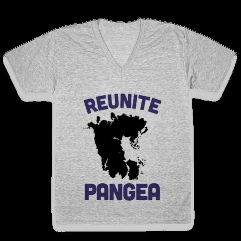 Reunite Pangea V-Neck Tee Shirt
