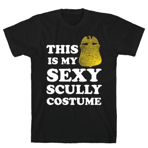 This Is My Sexy Scully Costume (White Ink) Mens T-Shirt