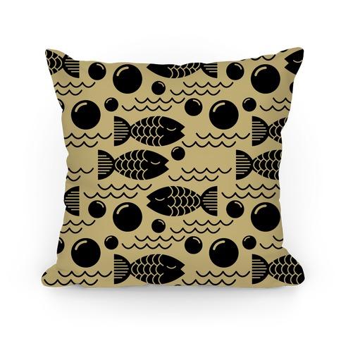 Geometric Fish Pillow