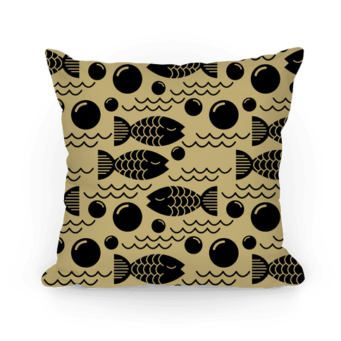 Geometric Fish Pillow