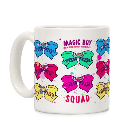 Magic Boy Anime Bows Coffee Mug