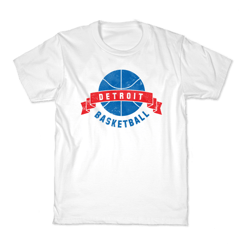 Detroit Basketball Kids T-Shirt