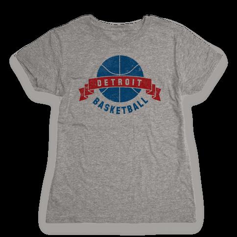 Detroit Basketball Womens T-Shirt
