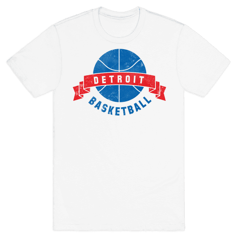 Detroit Basketball Mens T-Shirt