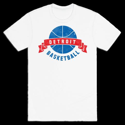 Detroit Basketball Mens T-Shirt