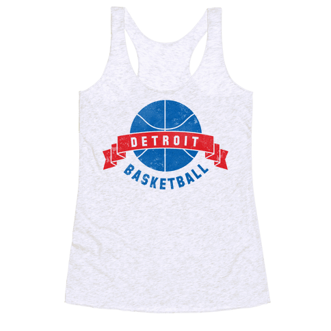 Detroit Basketball Racerback Tank Top