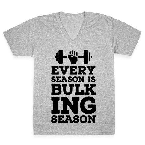 Every Season Is Bulking Season V-Neck Tee Shirt