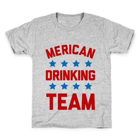Merican Drinking Team Kids T-Shirt