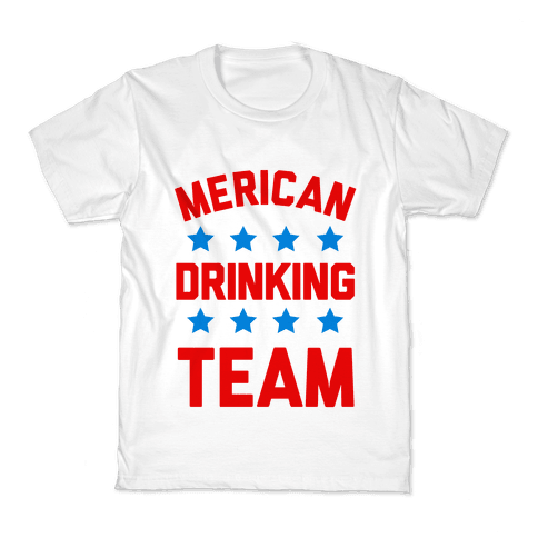 Merican Drinking Team Kids T-Shirt