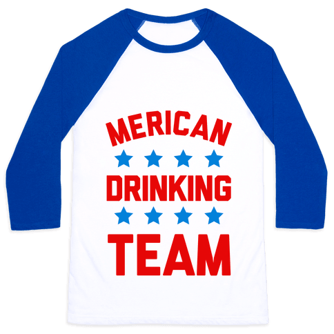 Merican Drinking Team Baseball Tee