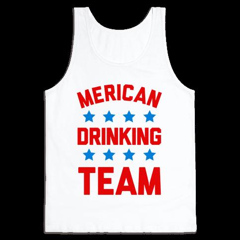 Merican Drinking Team Tank Top