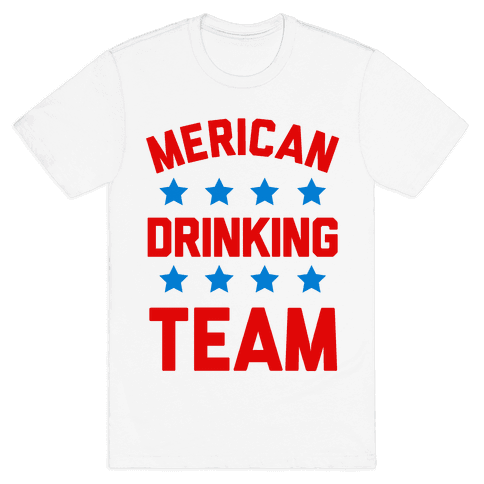 Merican Drinking Team Mens T-Shirt
