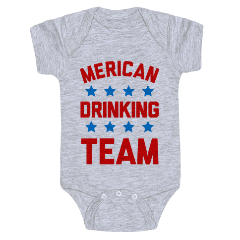 Merican Drinking Team Baby Onesy