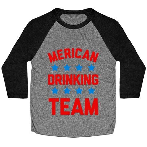 Merican Drinking Team Baseball Tee
