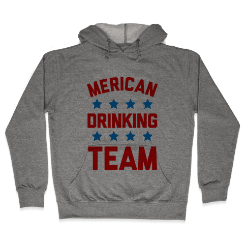 Merican Drinking Team Hooded Sweatshirt
