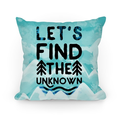 Let's Find the Unknown (Blue) Pillow