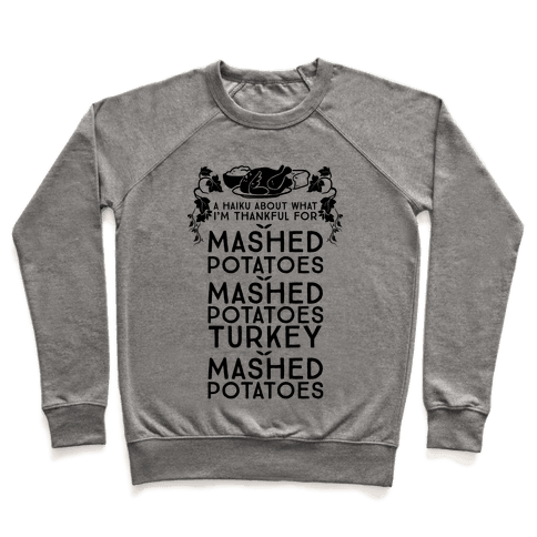 A Haiku About What I'm Thankful For (Holiday) Pullover