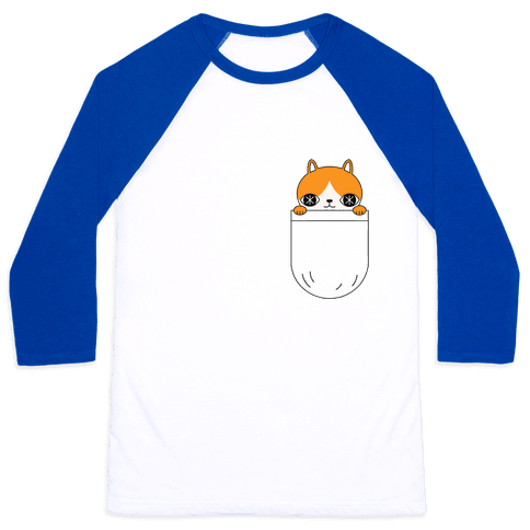 Pocket Cat Baseball Tee