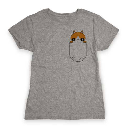Pocket Cat Womens T-Shirt