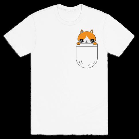 Pocket Cat Mens T-Shirt