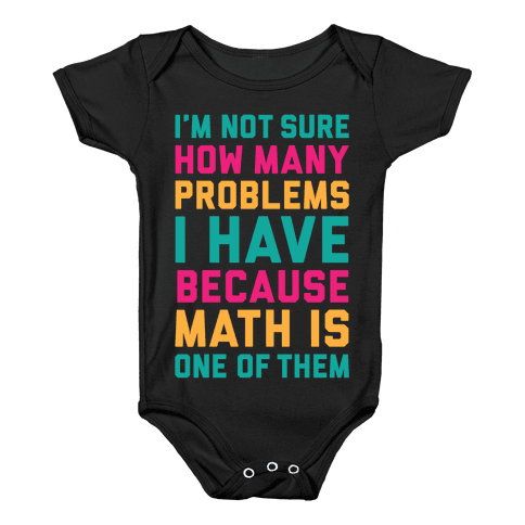 Math Problems Baby Onesy