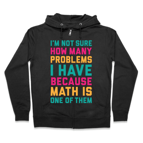 Math Problems Zip Hoodie